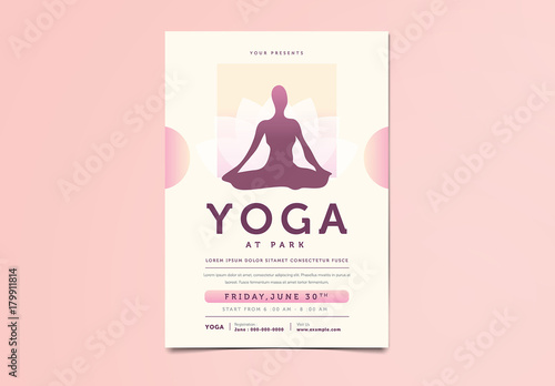 Yoga Flyer Buy this stock template and explore similar templates at - yoga flyer