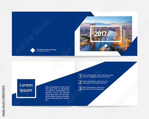 Corporate cover design and inner layout page template for annual