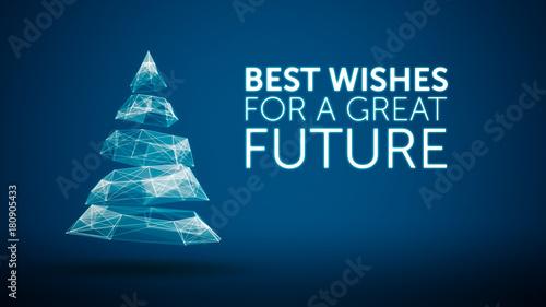 modern christmas tree and wishes great future season greetings