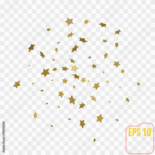 Shimmering Stars Confetti on transparent Sky Greeting Card, Wedding