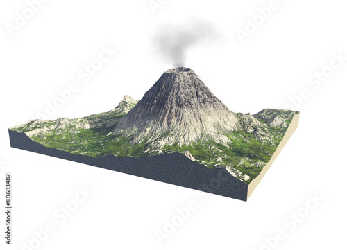 Parts of a volcano - Buy this stock illustration and explore similar