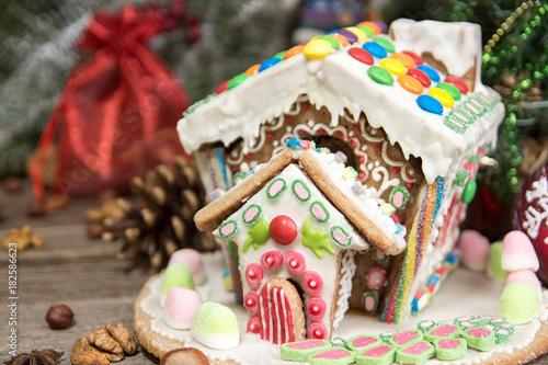 Gingerbread house Christmas holiday sweets European Christmas