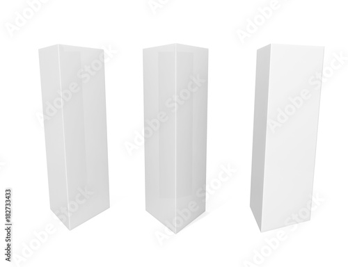 White Blank Empty Paper Tri-fold Table Tent card Mock-up Template