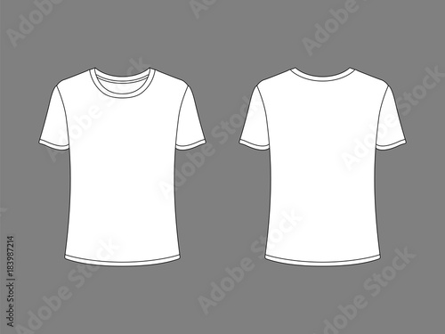 Men T-shirt templates White t-shirts, isolated on background - Buy