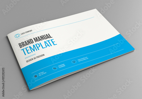 Brand Manual Layout with Blue Accents Buy this stock template and - manual design templates