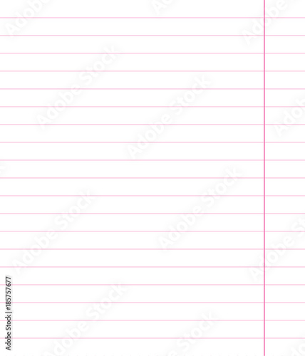 Pink sheet with wide horizontal lines notebook school paper with - lines paper