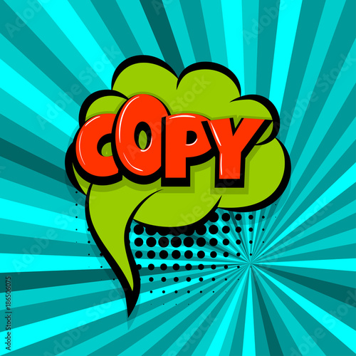 copy, paste Comic text speech bubble balloon Pop art style wow