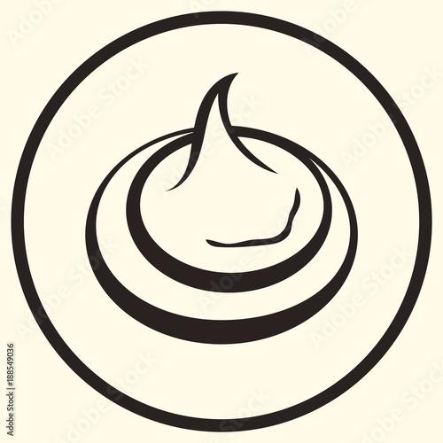 Meringue line art vector icon for food apps and websites Dessert - apps symbol
