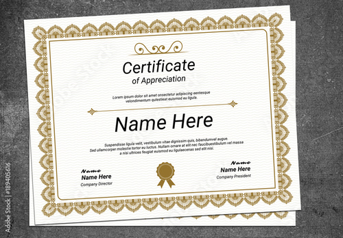 Multipurpose Certificate Layout with Ornamental Border 1 Buy this - certificate layout
