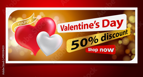 Welcome to the Heart of Love Festival with red hearts and coupon