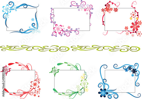 greeting card border design - Buy this stock illustration and