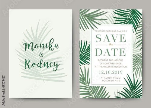 Set of Wedding Card template Background For Invitation, menu, rave - wedding card template