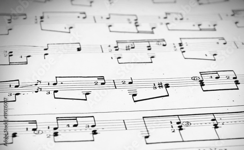 Notes and musical staves - Buy this stock photo and explore similar