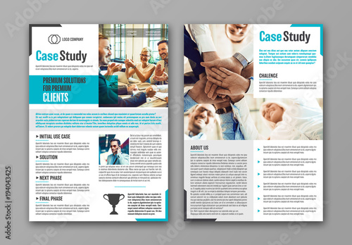 Business Case Study Layout with Blue Accents 1 Buy this stock