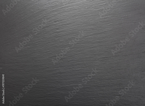 top view of blank gray slate background - Buy this stock photo and