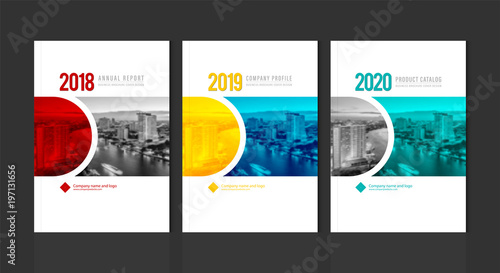 Cover design template corporate business annual report brochure