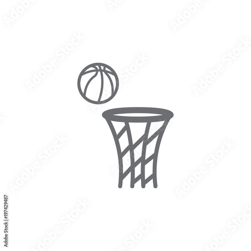 ball and ring for basketball icon Simple element illustration ball