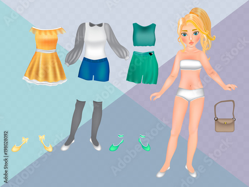 Paper dolls with clothes for carving Printable Paper Doll Template