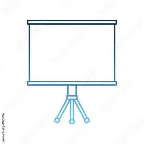 presentation board office supply blank vector illustration gradient