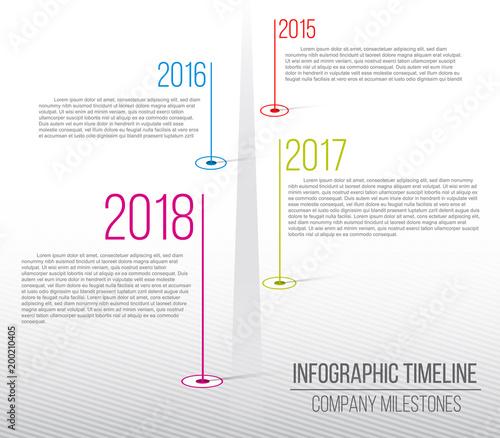 Creative vector illustration of company milestones timeline
