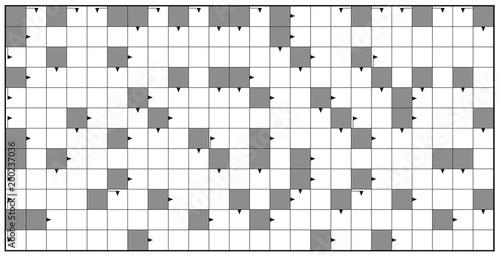 Crossword - blank crossword puzzle pattern, horizontal format