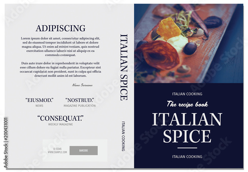 Cookbook Cover Layout Buy this stock template and explore similar