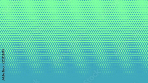 Halftone gradient dots background vector illustration Blue dotted