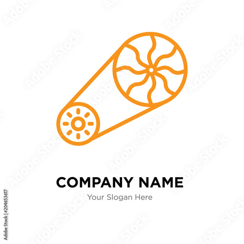 flywheel company logo design template, colorful vector icon for your