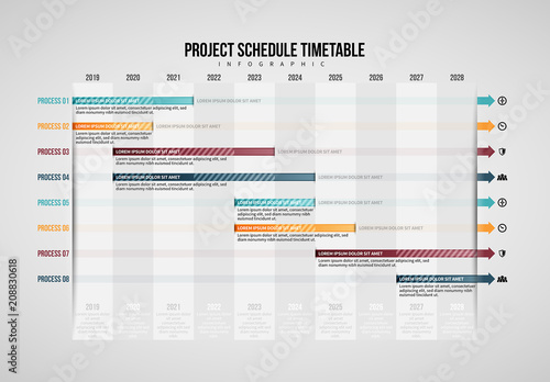Project Schedule Table Infographic Buy this stock template and