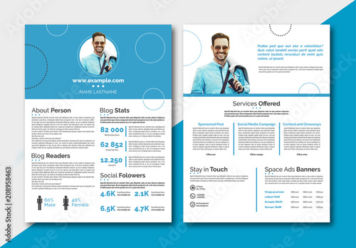 Personal Branding Media Kit Layout Buy this stock template and