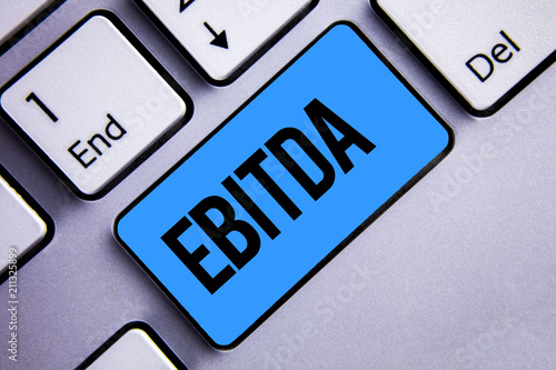Word writing text Ebitda Business concept for Earnings Before