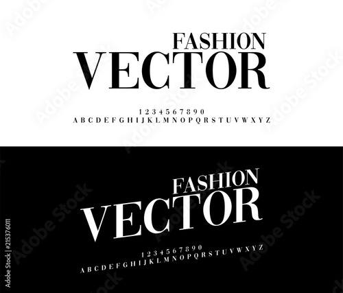 Fashion elegant alphabet letters set Exclusive Custom Letters