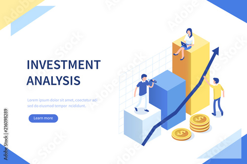 investment analysis - Buy this stock vector and explore similar