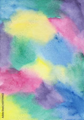 Colorful watercolor background Bright colorful aquarelle backdrop