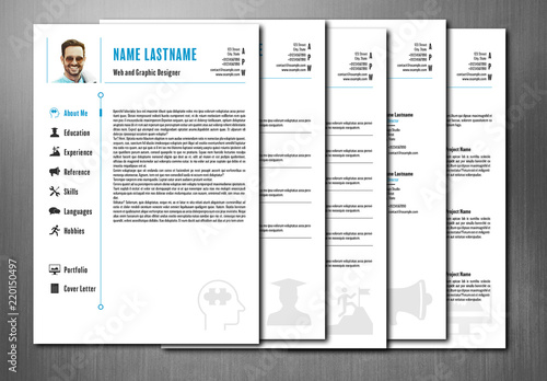 Interactive PDF Resume Layout Buy this stock template and explore