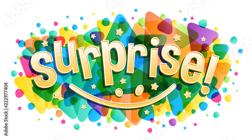 Surprise word creative concept - Buy this stock vector and explore