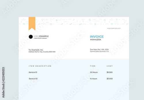 Pastel Blue Invoice Layout Buy this stock template and explore