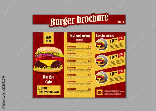 Menu placemat food restaurant brochure, menu template design