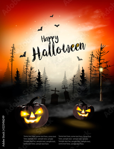 Holiday Halloween Spooky background Vector - Buy this stock vector