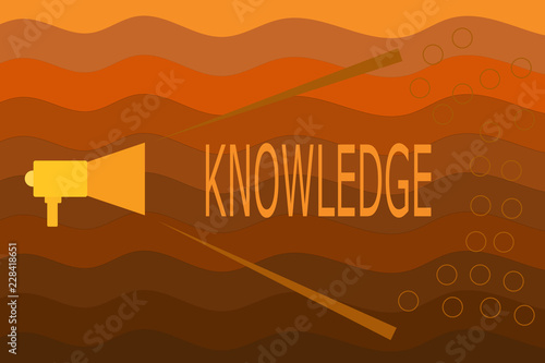 Text sign showing Knowledge Conceptual photo Facts information