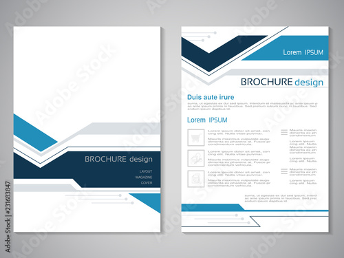 Vector modern brochure Design of annual report, abstract flyer with