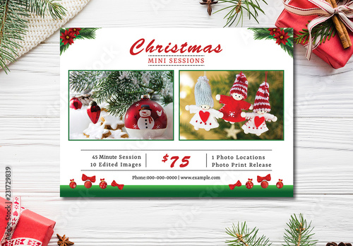 Christmas Photography Mini Session Layout Buy this stock template