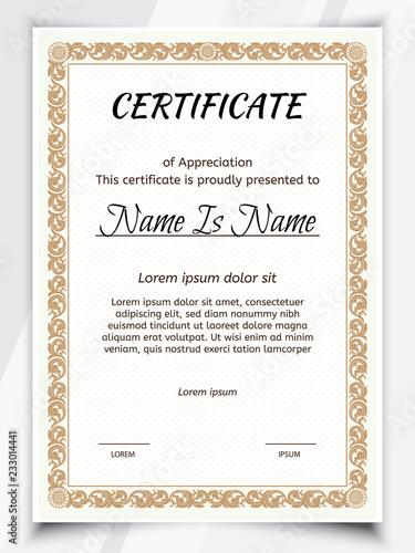 Certificate Potrait and Landscape Template diploma border Award