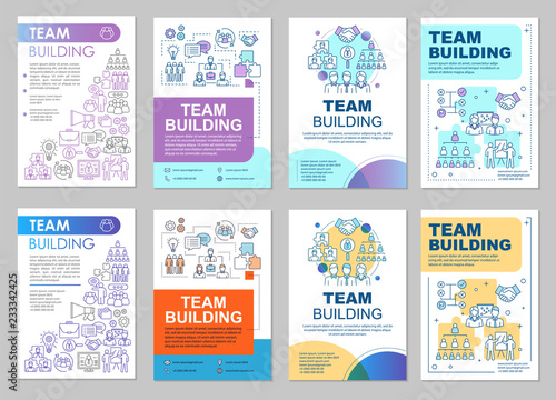 Team building brochure template layout - Buy this stock vector and
