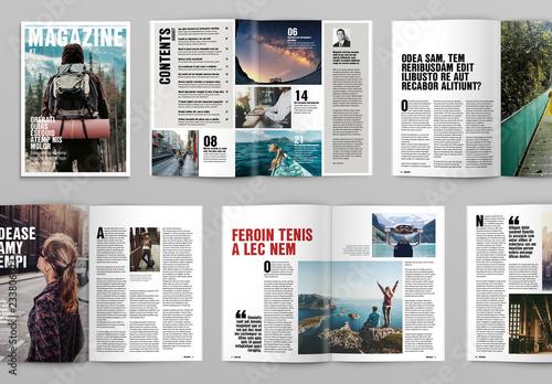 magazine layout design templates