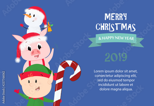Merry Christmas and Happy New Year festive sample banner design