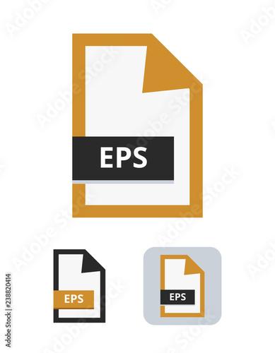 Eps file flat vector icon Symbol of encapsulated postscript vector