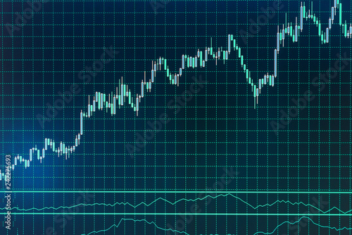 Statistic graph of stock market data and financial analysis Stock