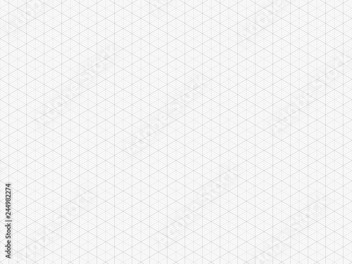 Detailed Isometric Grid High Quality Triangle Graph Paper Seamless