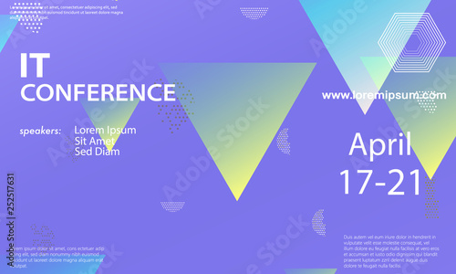 Conference announcement design template - Buy this stock vector and